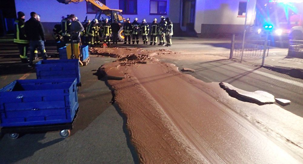 Germany Chocolate Factory Spill Leaves Sweet Mess (Picture)