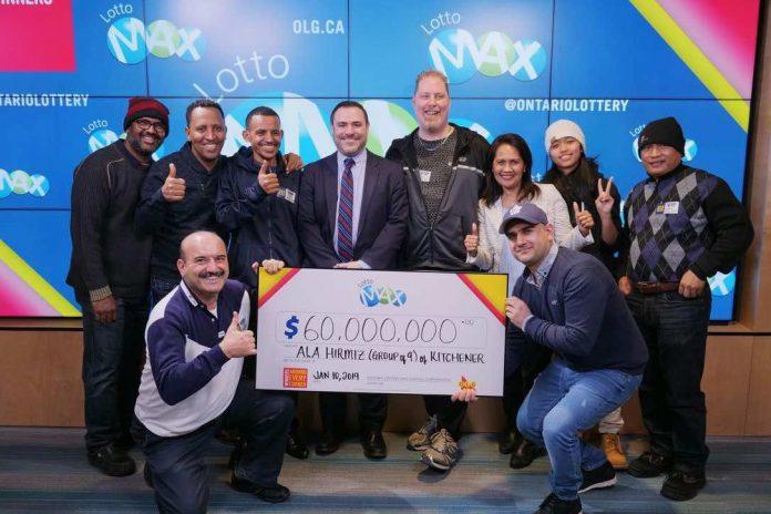 Winners car parts plant win $60 million lotto jackpot